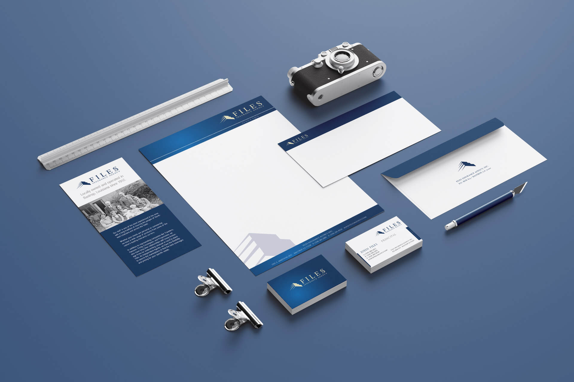 Files Insurance Agency Stationery Design