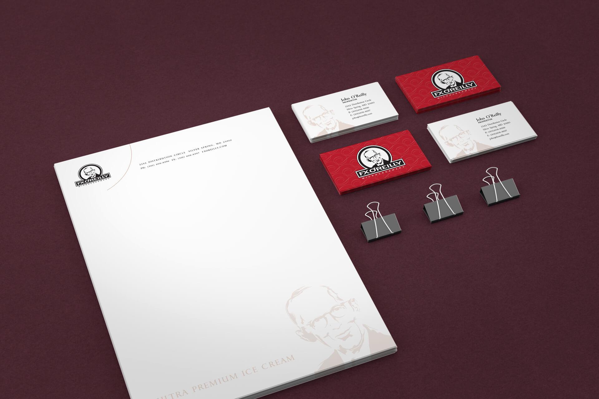 FX O'Reilly Microcreamery Stationery Design