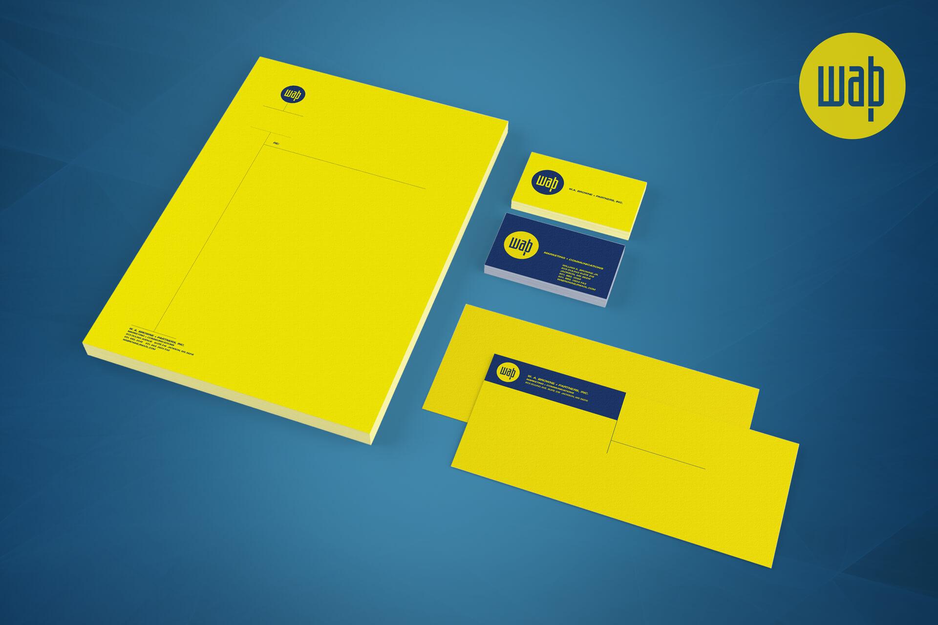 WA Brown & Partners Stationery Design
