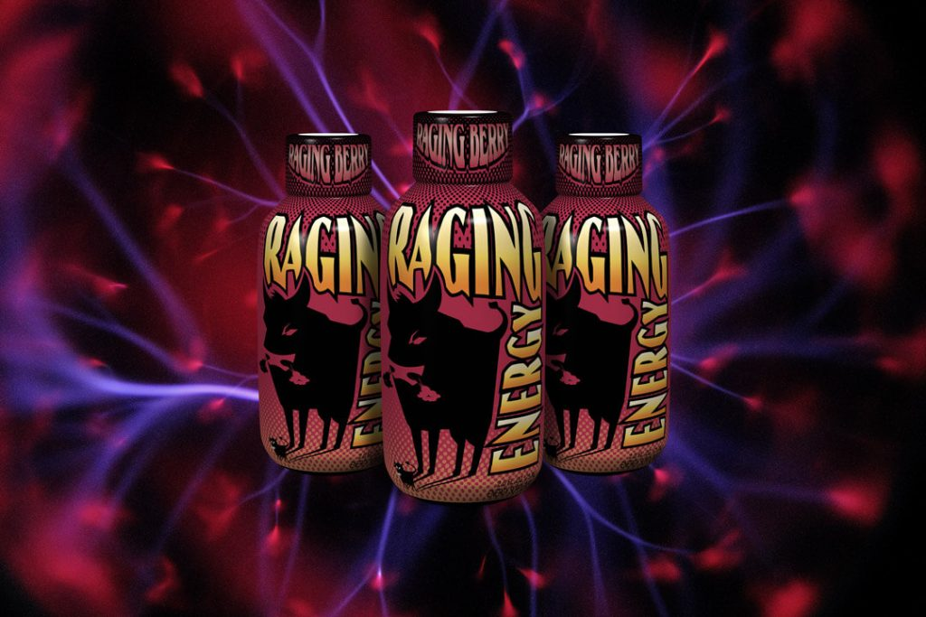 Packaging Design for Raging Energy (Raging Berry)