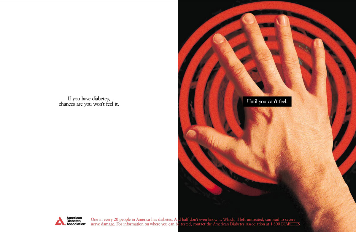 American Diabetes Association Print Ad Campaign - Burning Hand