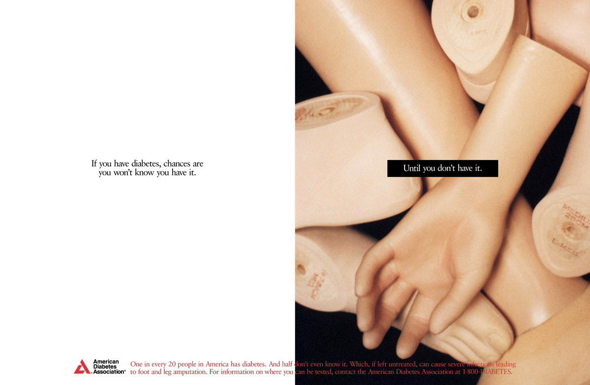 American Diabetes Association Print Ad Campaign - Prosthetics