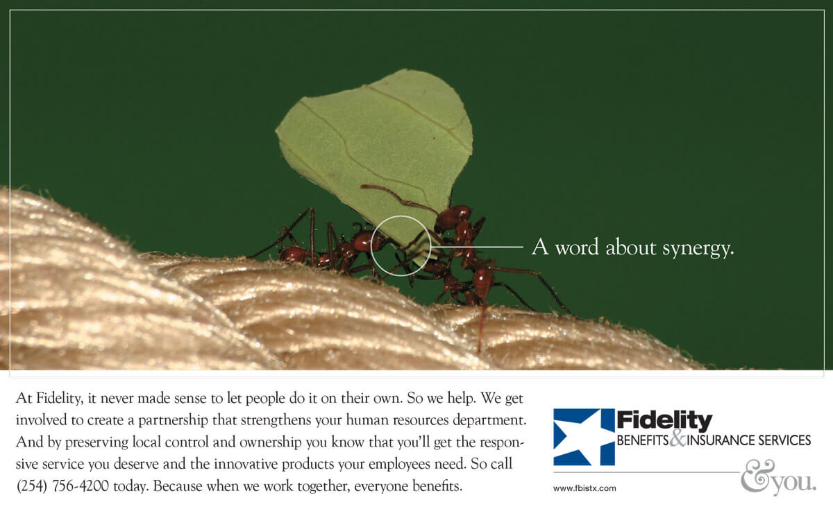 Print Ad - Fidelity Benefits and Insurance - Ants