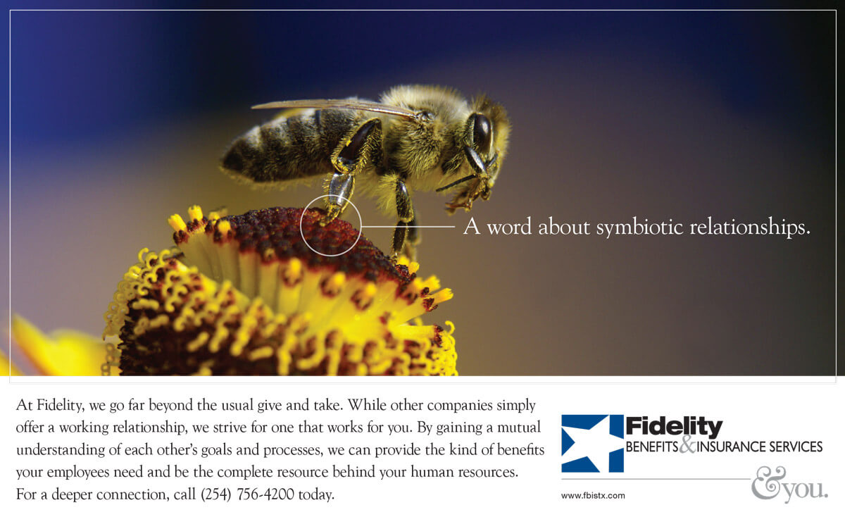 Print Ad - Fidelity Benefits and Insurance - Bees