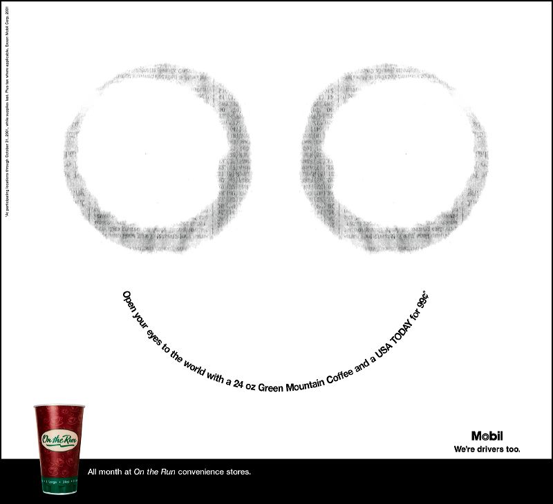 Mobile On-the-Run Print Ad Campaign - Coffee