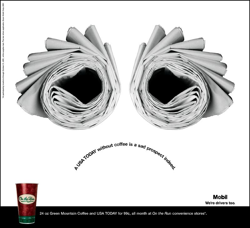 Mobile On-the-Run Print Ad Campaign - Frown