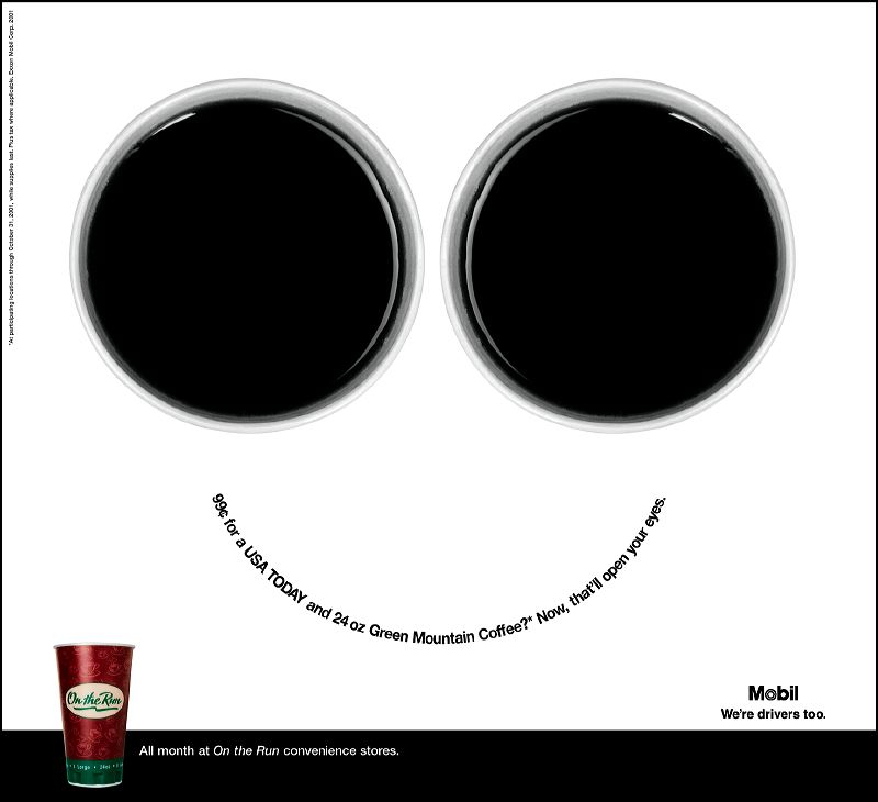 Mobile On-the-Run Print Ad Campaign - Smile