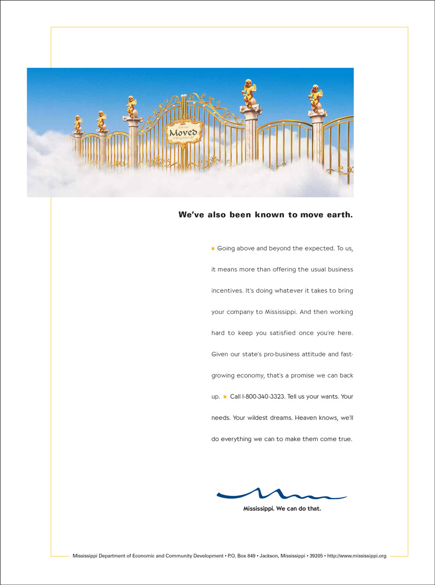 MS Department of Economic Development Print Ad - Pearly Gates