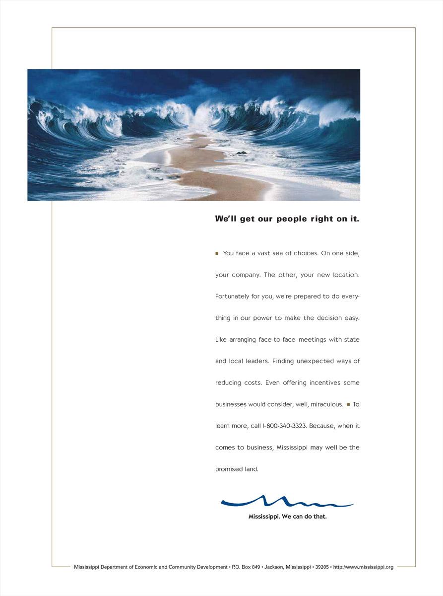 MS Department of Economic Development Print Ad - Parting Sea