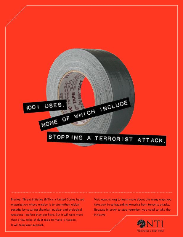Nuclear Threat Initiative (NTI) Print Ad