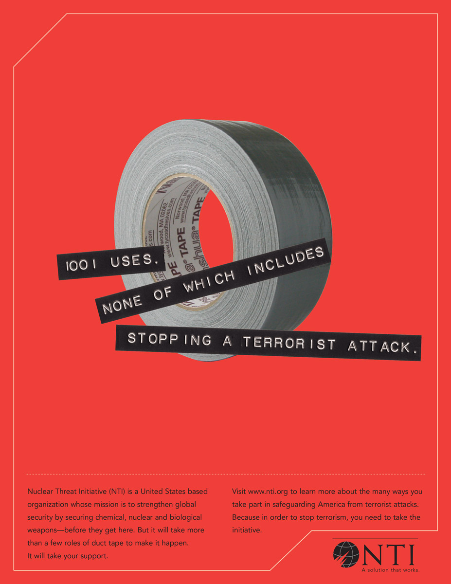 Print Ad Nuclear Threat Initiative - Duct Tape