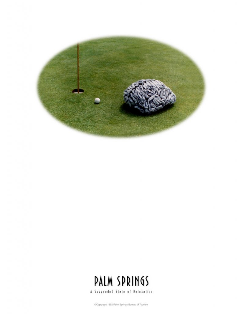 Palm Springs Tourism Print Ad - Golfing