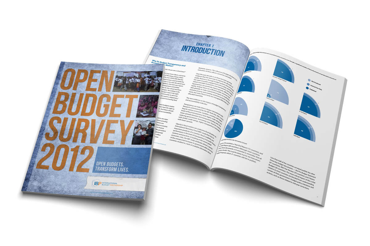 International Budget Partnership Open Budget Survey 2012 Cover Spread
