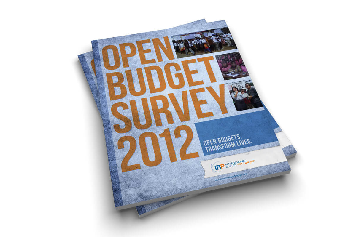 International Budget Partnership Open Budget Survey 2012 Cover Design