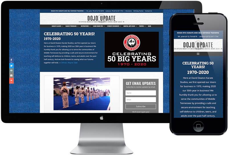 Deaton Karate Studios Website Design