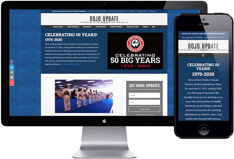 Deaton Karate Studios Website Design