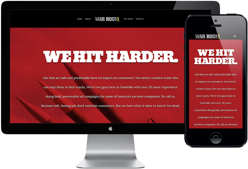 War Room Creative Website Design